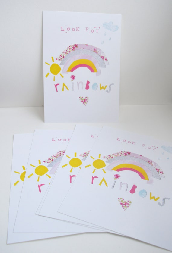 Rainbow Postcard, A5 Postcard, Colourful Rainbow