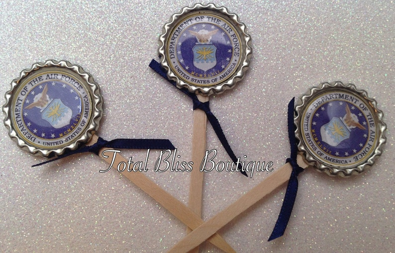 Air Force Cupcake Toppers Air Force Graduation Favors Air Etsy