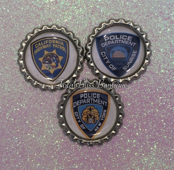 Personalized Pd Logos Police Favors Police Party Police Etsy
