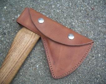 Norlund Voyager Tomahawk Hudsons Bay Axe custom sheath head cover