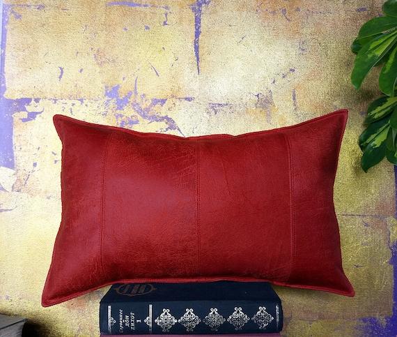 Red lumbar pillow | Etsy