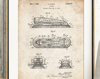 Stapler Patent Poster, Home Office Decor, Office Wall Art, Technology Art, Office Space, Secretary Gift, PP1052