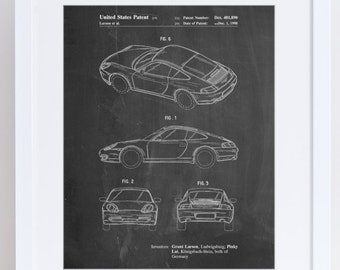 Sports Car Patent Poster, Classic Car, Sports Car, Car Poster, Teen Boy Gift, PP0700