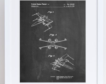 Star Wars X Wing Starfighter Star Wars Poster, Star Wars Print, X Wing Poster, Star Wars Art, Star Wars Ships, PP1060