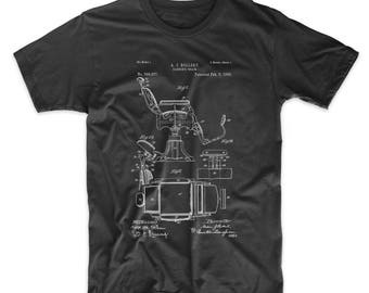 Barbers Chair Patent T Shirt, Vintage Barber, Barber Gift, Hair Stylist Gift, Barber Shirt, Hair Stylist Shirt, PP0244