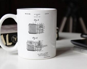 e118ff81f86 Drill Chuck 1943 Patent Mug, Woodworking Tools, Tools Mug, Man Cave,  Handyman, PP0787