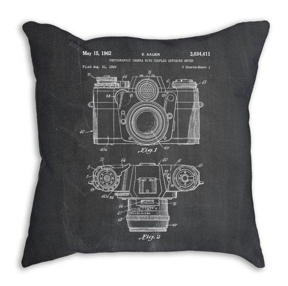 Camera Pillow Camera Throw Pillow Decorative Pillows Etsy