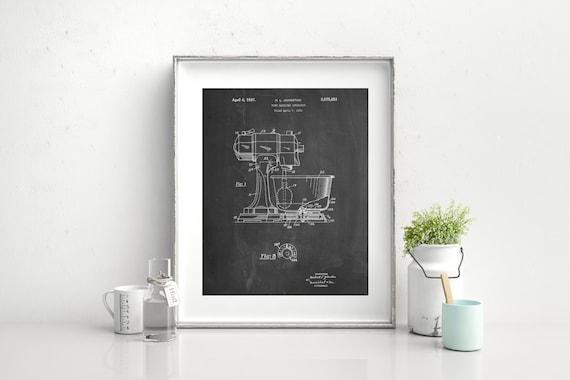 Automatische Mixer Keuken : Keuken mixer patent poster keuken mixer octrooi keuken etsy