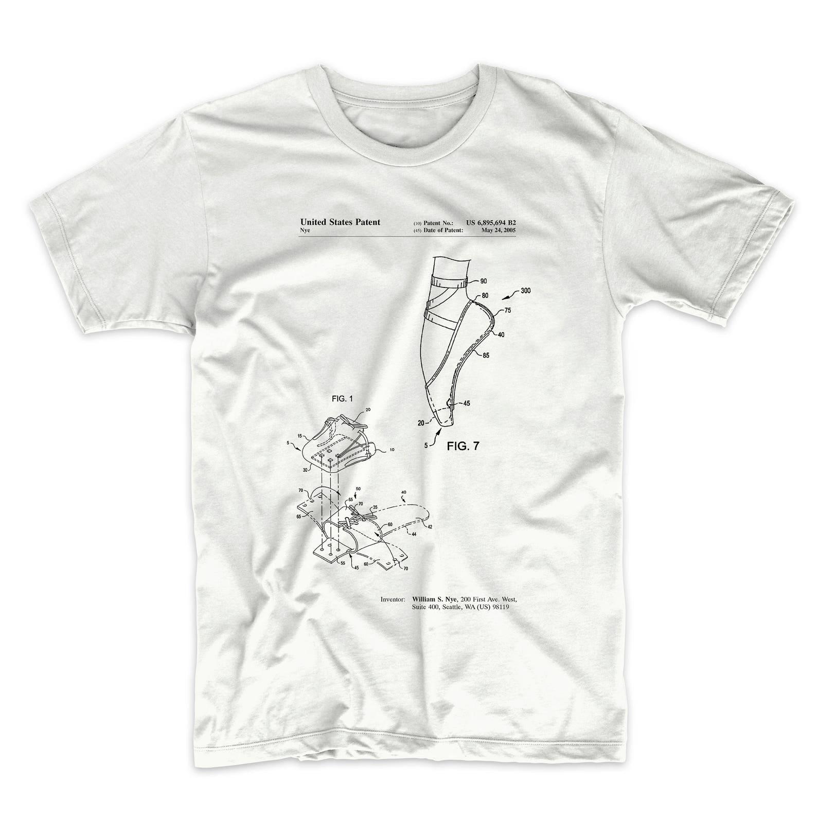 ballet shoe patent t shirt, ballet slippers, dance studio, ballerina gift, pp0268