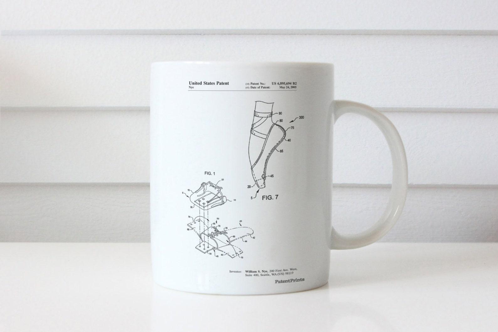 ballet shoe patent mug, ballet slippers, dance studio, ballerina gift, pp0268