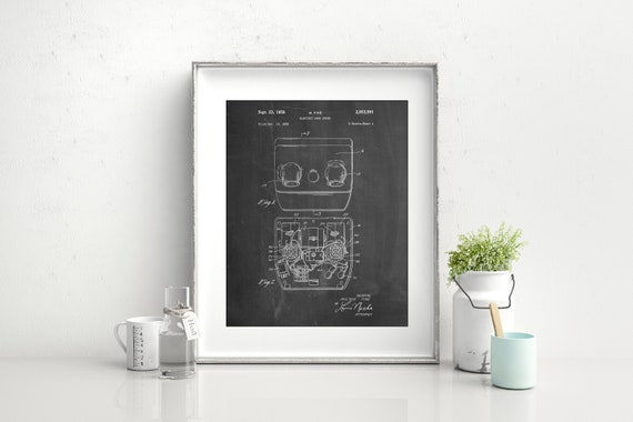 Electric Hand Dryer Patent Poster Vintage Bathroom Wall Etsy Amazing Hand Dryer For Bathroom Decoration