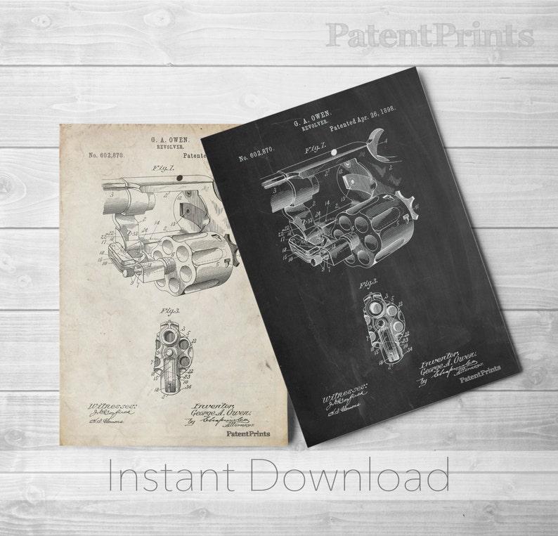 Revolver Printables, Pistol Prints, Gun Art, Gun Enthusiast, PP0980