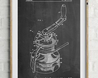 Sailboat Winch Patent Poster, Sailboat Art, Sailing Decor, Sailor Gift, Beach House Decor, Vacation House, PP1027
