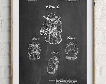 Star Wars Yoda Full Image Patent Poster, Yoda Print, Starwars Art, Yoda Baby, Star Wars Wall Art, Star Wars Characters, PP1061