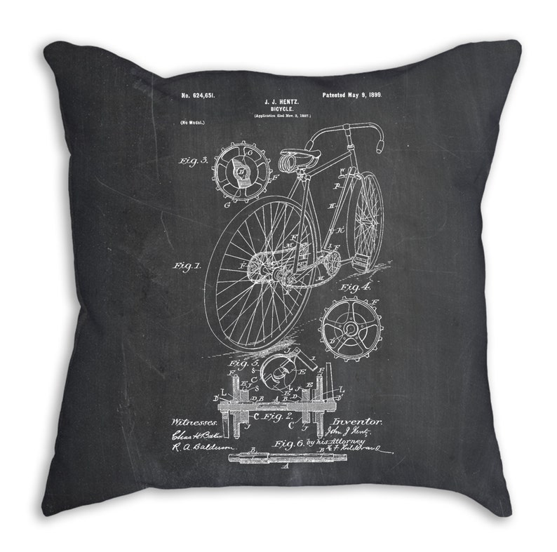 Bicycle Bedding Cyclist Gift Bicycle Pillow Bicycle Art PP0025 Cycling Gift
