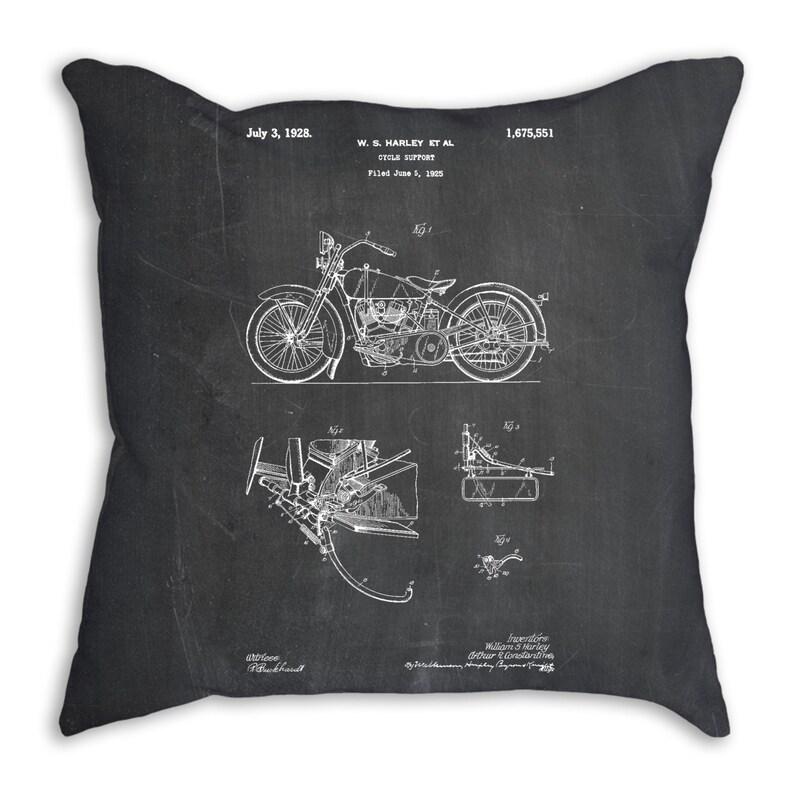 Harley Davidson Modell Jd Patent Kissen Harley Motorrad Etsy