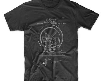 Sewing Machine Patent T Shirt, Sewing Machine Art, Industrial Art, Sew Much Crafting, PP1035