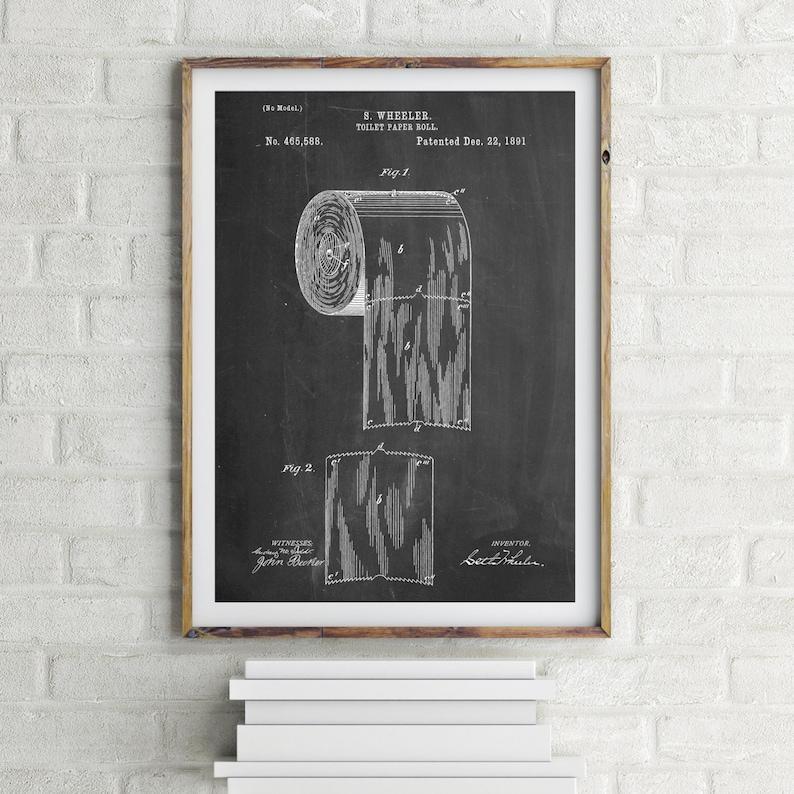 WC-Papierkunst Bad Art Badezimmer-Wand-Dekor | Etsy