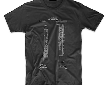 Oboe Patent T Shirt, Music Shirt, Symphony, Band Director, Musician Gift, PP0247