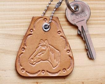 Horse Head Key Fob, Leather Keychain, Horse Key Fob, Horse Gift For Her, Horse Keychain, Leather Key Fob, Horse Rider, Leather Bag Charm