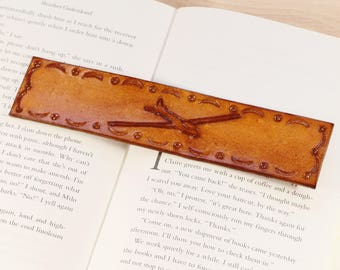 Glider Bookmark, Hand Carved Leather Bookmark, Glider Pilot Gift For Him, Husband Gifts For Pilots, Leather Anniversary 3rd Anniversary Gift