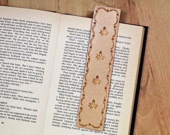 Candle Bookmark, Hand Tooled Leather Bookmark, Sympathy Gift. Handmade Book Mark, Bereavement Gift, Leather Book Markers, Remembrance Gift