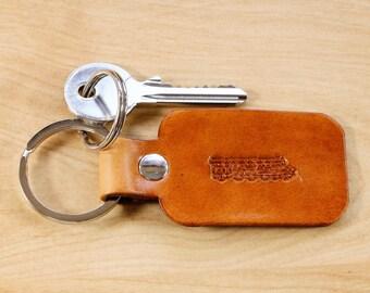 Train Keychain, Leather Keychain, Dad Gift, Train Key Fob, Leather Key Fob, Train Driver Gift, Leather Keyring, Husband Gift, Train Keyring