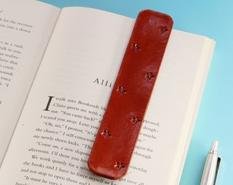 Stars Bookmark Leather Bookmark, Handmade Star Book Marks, 3rd Leather Anniversary Gift For Husband, Boyfriend Gift, Star Gift For Friend