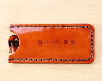 Leather comb case | Etsy