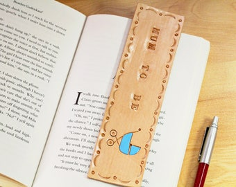Handmade Bookmark Mum To Be Bookmark, Leather Bookmark, Gift For New Mum Gift, Book Lover Gift, Baby Shower Pregnancy Gift, Baby Boy Gift