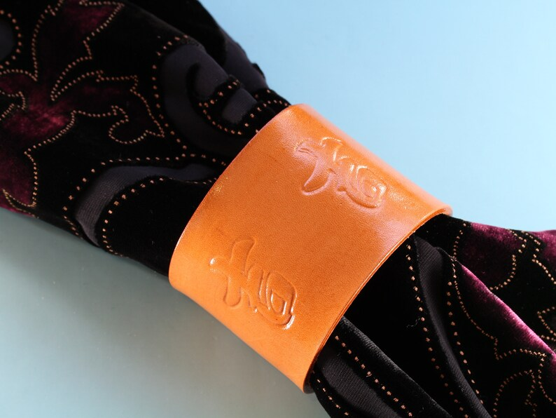 Chinese Good Luck Leather Bracelet Shawl Cuff Handmade image 0
