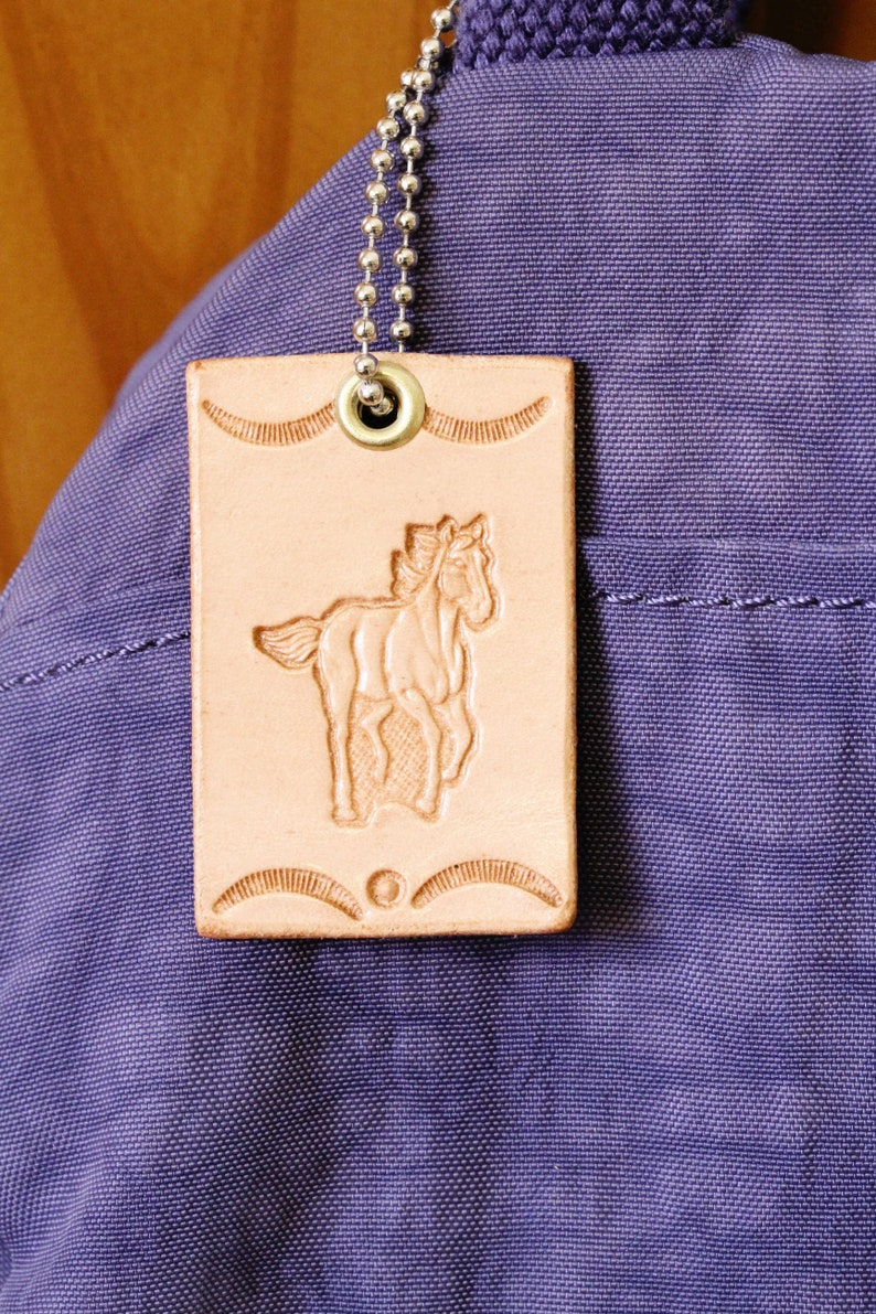 Horse Purse Charm Leather Bag Charm Girlfriend Gift For image 0