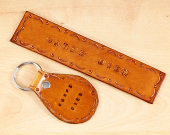 Carpe Diem Leather Bookmark Set, Leather Keychain, Inspirational Seize The Day Gift For Men Boyfriend Gift, Leather Anniversary Husband Gift