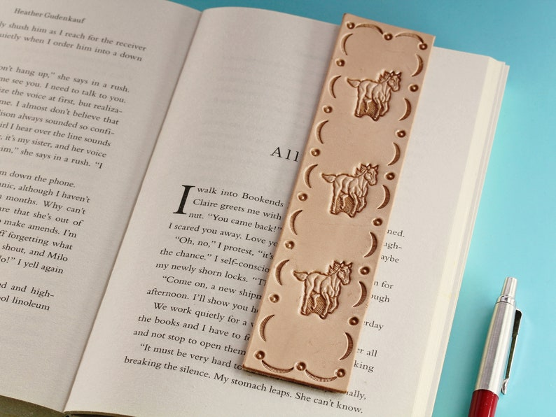 Horse Bookmark Leather Bookmark Horse Gift For Her Handmade image 0