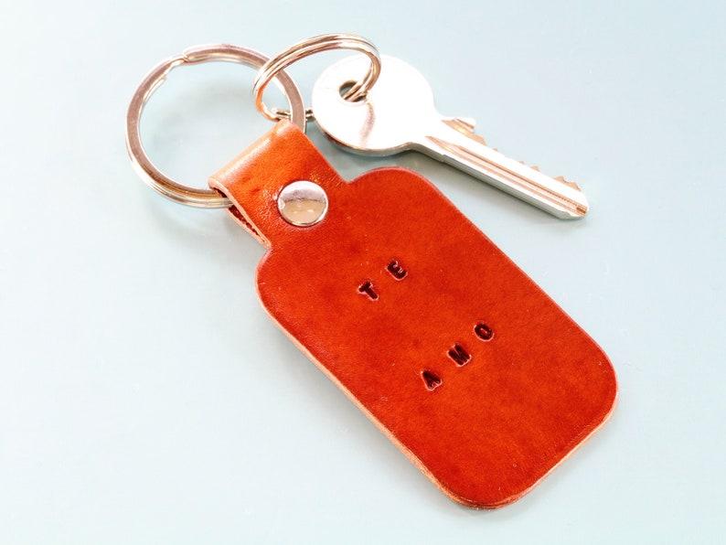 Te Amo Leather Keyring Handmade Birthday Gift Leather image 0