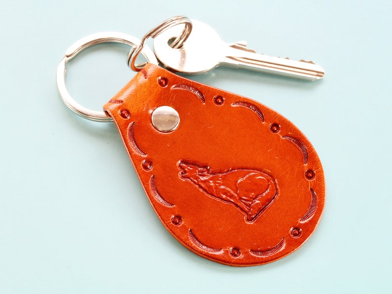 Howling Wolf Keychain Christmas Gift Anniversary Gift For image 0