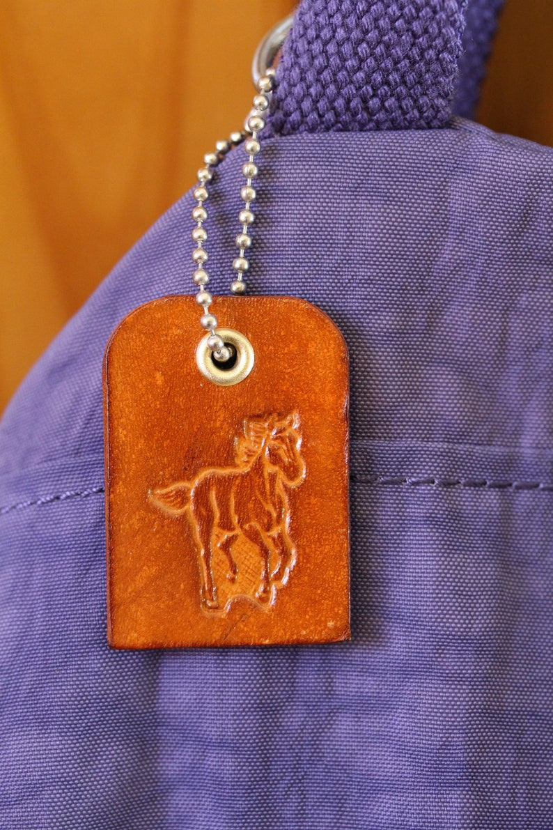 Horse Purse Charm Leather Bag Charm Handmade Gift For Mom image 0