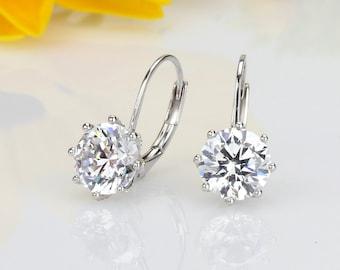 Cute Earrings Lips Cubic Zirconia Silver Chain Mismatched Earrings Avant Garde Modern Earrings Drop Earrings
