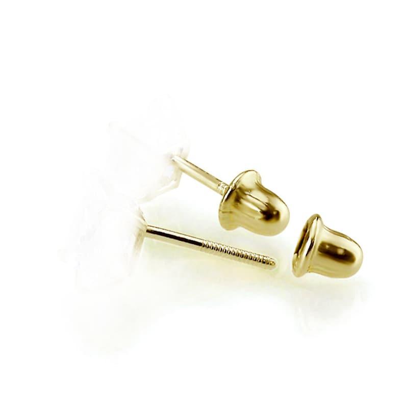 DLNBO-472M Women 14K Gold Stud Multi-Color Crystal Ball Screwback Earrings 4.5m