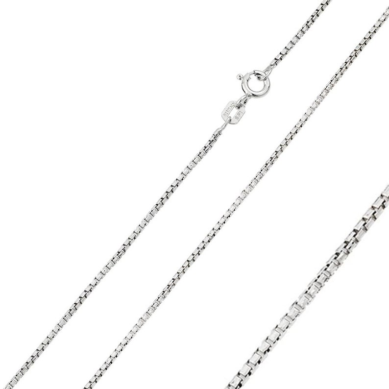 Solid 925 Sterling Silver GP Singapore 015-1mm Chain Italian Made