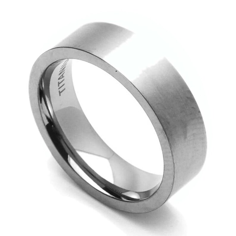 Jewel Tie 925 Sterling Silver 6mm Satin Finish Wedding Band