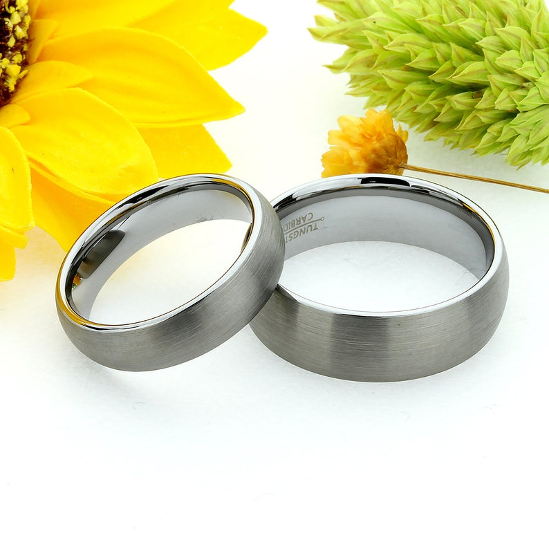 Double Accent 8MM Comfort Fit Tungsten Carbide Wedding Band Laser Engraved Celtic Tungsten Ring 5 to 15