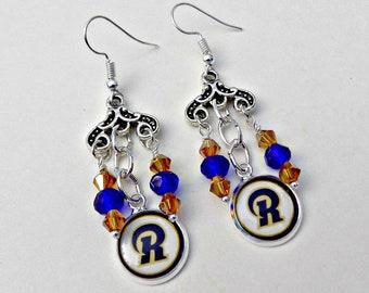 LA Rams Earrings, Los Angeles Rams Earrings, LA Rams Jewelry, Los Angeles Rams Jewelry, LA Rams Accessories, Football Jewelry, Rams Fan Wear
