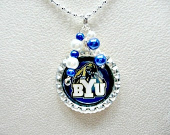 Brigham Young Jewelry, BYU Necklace, BYU Cougars, Brigham Young University, College Girl Gift, Brigham Young Accessories, BYU Accessories