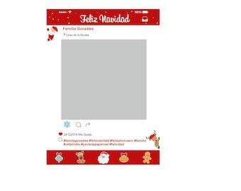 Instagram Christmas Frame