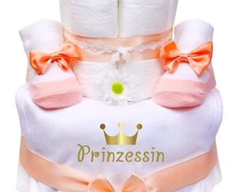 Trend Mama Windeltorte pink-rosa M/ädchen L/ätzchen Babysocken Princess