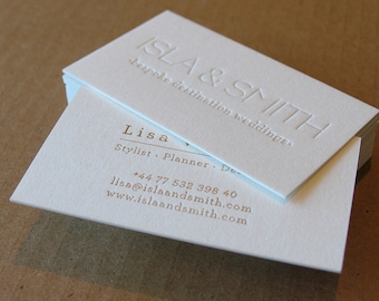 letterpress business cards 1 letterpress gold foil cranes lettra 600gsm 220lb - Letterpress Business Cards