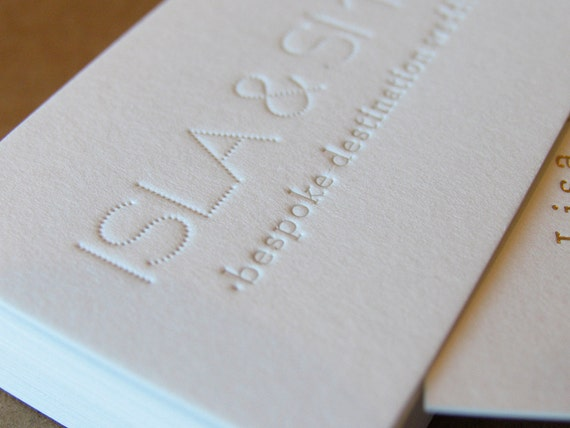 Buchdruck Visitenkarten Calling Cards Custom Design 1 Buchdruck Goldfolie