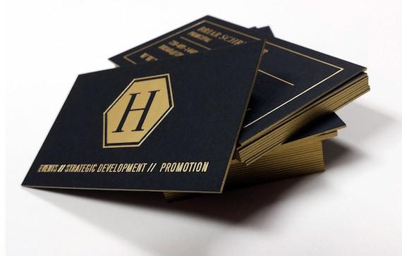 image 0 - Matte Black Business Cards