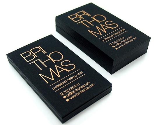 Schwarze Visitenkarten 700gsm Folie Auf Einer Seite